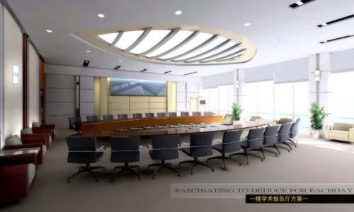 议室-一楼学术报告厅 效果图-设计装饰工程,装修,装璜,室内设